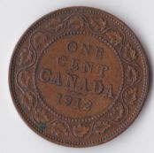 Canada, George V, One Cent 1912, VF, WB2367